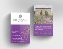 Linwood House business cards