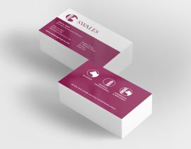 Swales Butchers, bakers and confectioners business cards