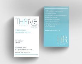 Thrive HR business cards