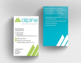 Alpine Business Management business cards